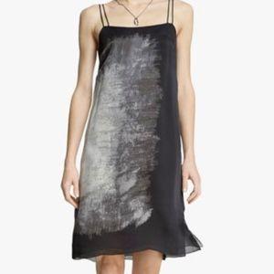Halston Heritage Printed Silk Georgette Dress 12